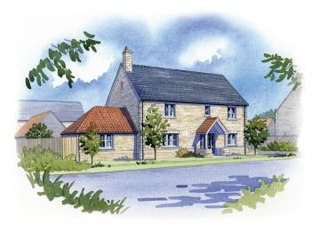 Home Farm Helpston, just one plot remaining